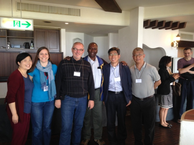 (Mennonite photo op: Sue Park-Hur, Jennifer Deibert, Myrrl Byler, Joe Manickam, Kyungjung Kim, Hongtao Yin)